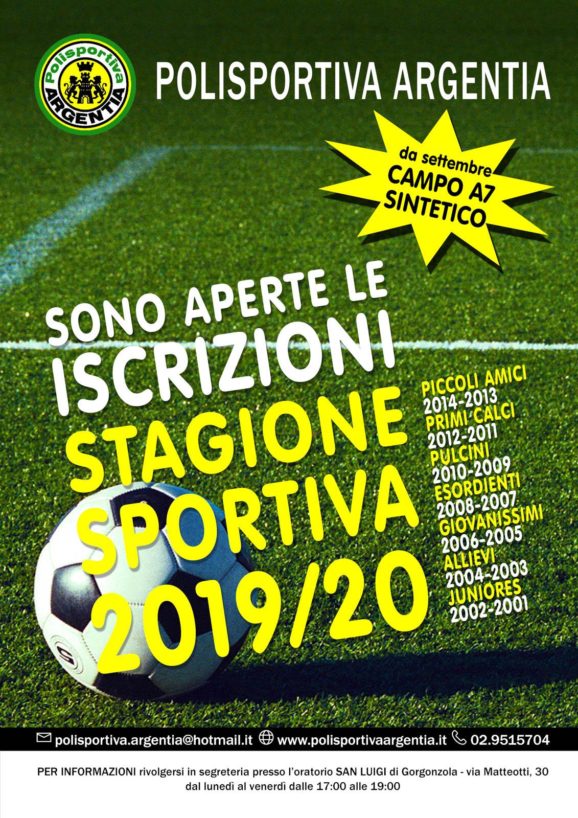 Calendario Esordienti 2020.A S D Polisportiva Argentia Calendari